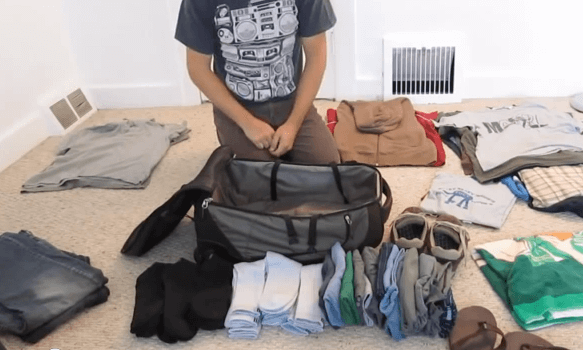 Suitcase packing tips