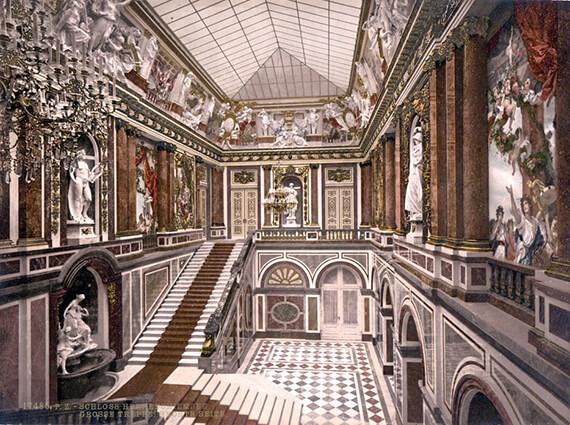 Herrenchiemsee New Palace, lake Chiemsee, Germany