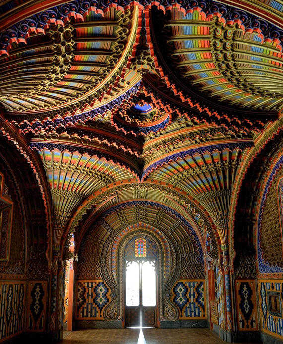 The Peacock Room in Castello di Sammezzano, Tuscany