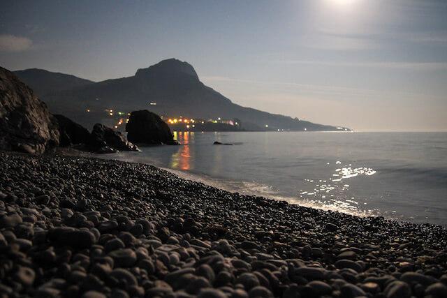Crimea Ukraine Russia Hiking Travel Night Beach Laspi