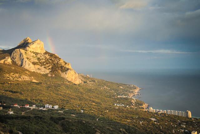 Crimea Ukraine Russia Hiking Travel Rainbow