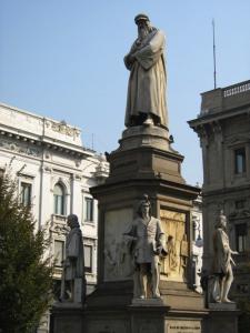 Leonardo Statue Milan