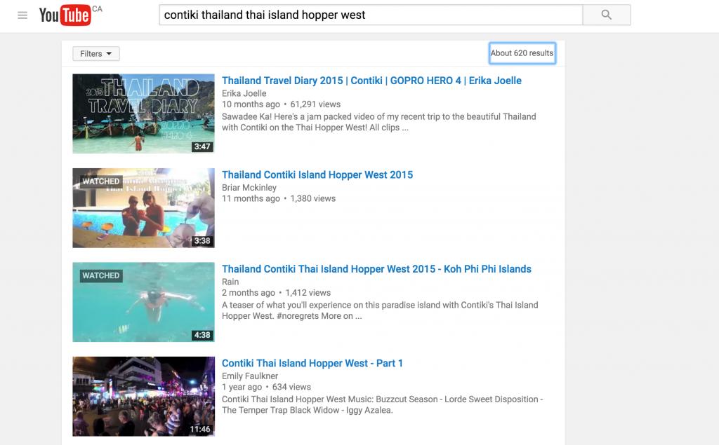 Rain Travels Video Rankings