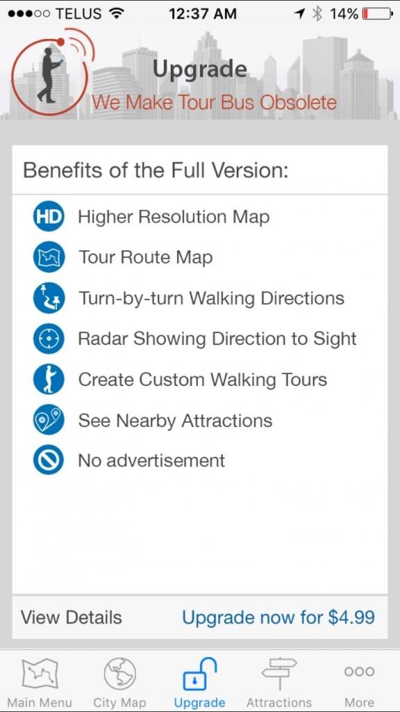GPSmycity free vs paid