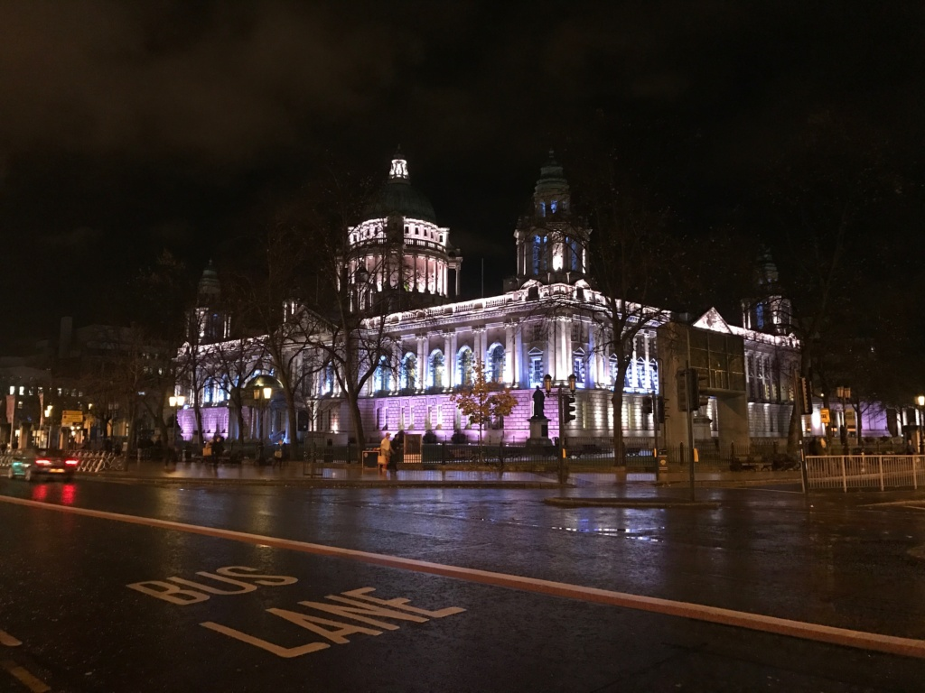 Belfast is beautiful at night.
