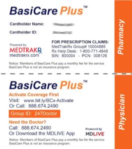 BCx Drug Card